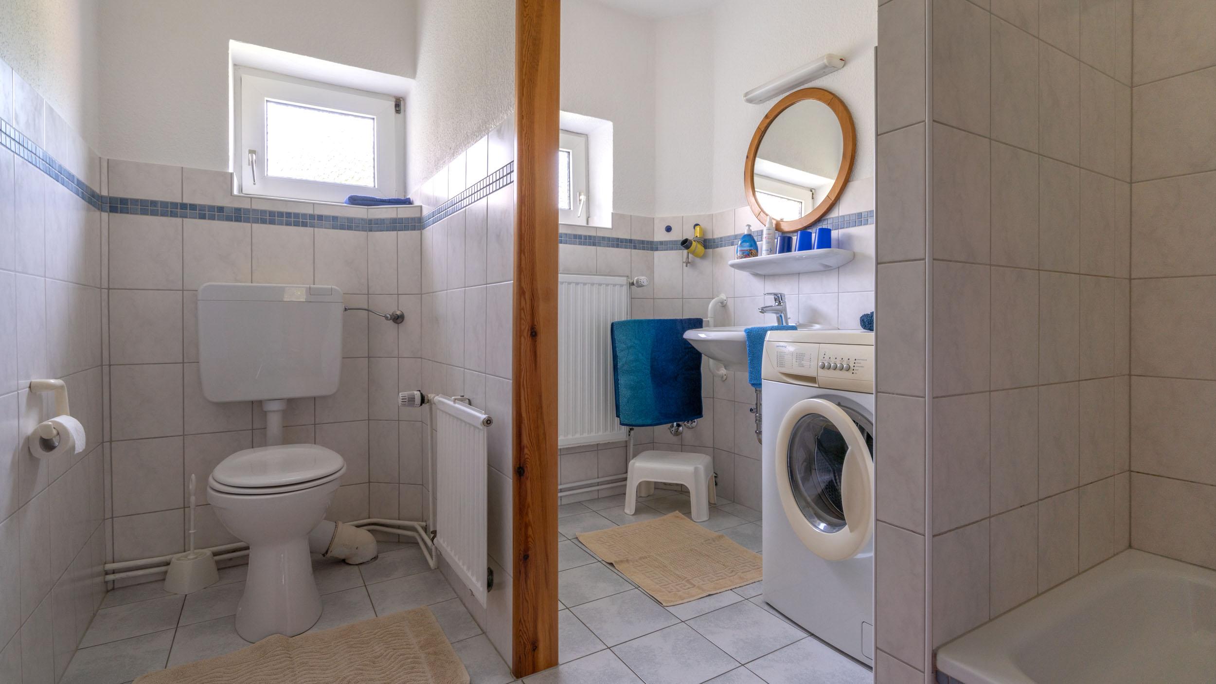 Haus Vogelkiek - Ferienwohnung Eiderente - Badezimmer