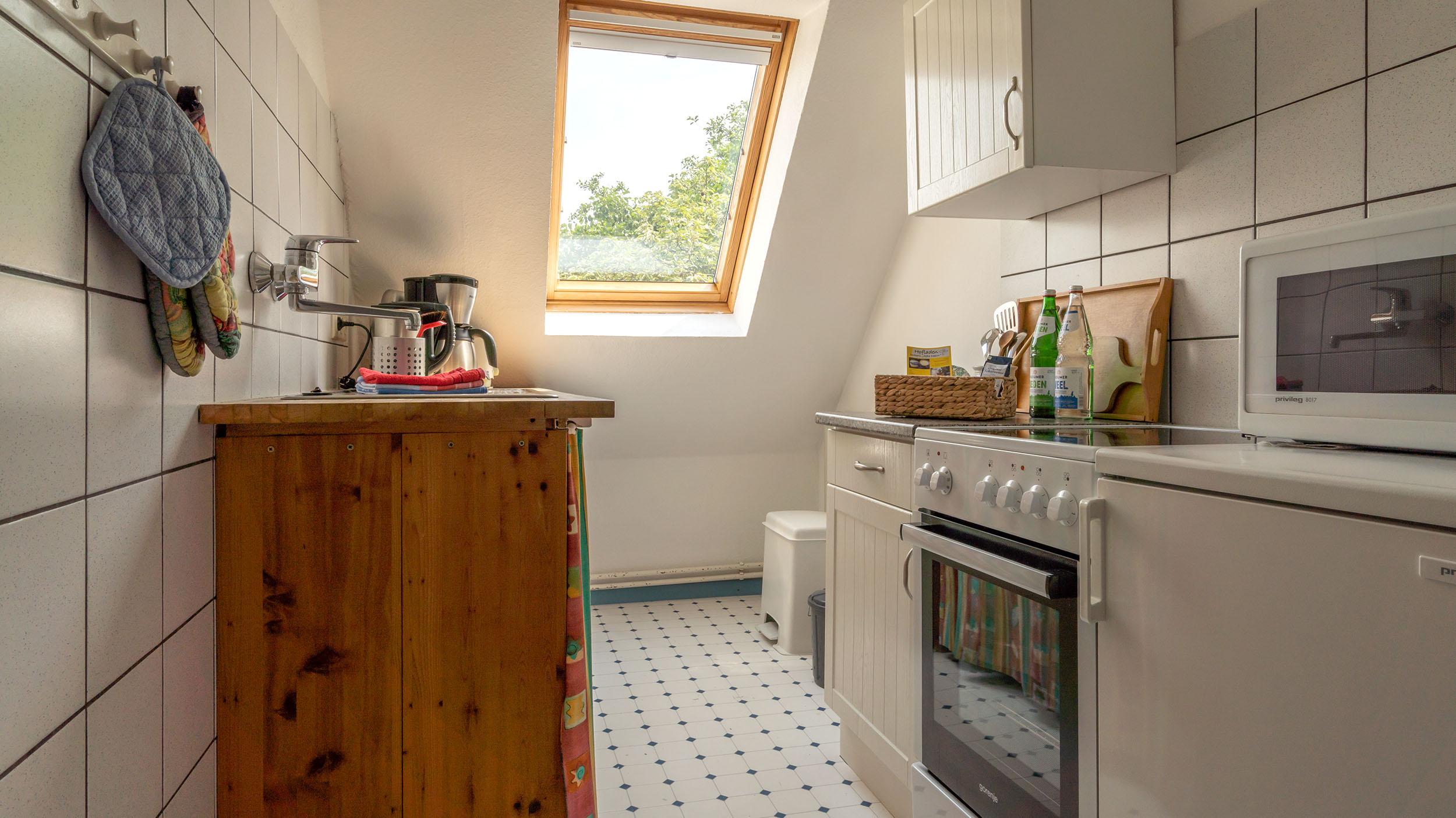 Haus Vogelkiek - Ferienwohnung Silbermöwe - Küche